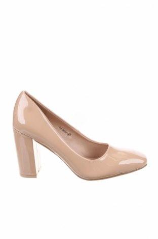 Γυναικεία παπούτσια Manoukian, Μέγεθος 40, Χρώμα  Μπέζ, Δερματίνη, Τιμή 34,56€