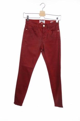 Дамски панталон Frame, Размер XS, Цвят Червен, 92% памук, 6% полиестер, 2% еластан, Цена 26,25лв.