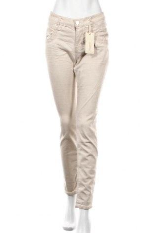 Γυναικείο παντελόνι MOS MOSH, Μέγεθος L, Χρώμα  Μπέζ, 98% βαμβάκι, 2% ελαστάνη, Τιμή 28,66€