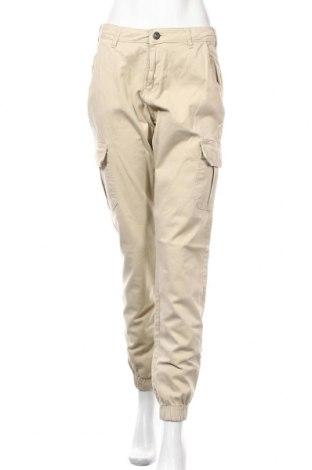 Дамски панталон Urban Classics, Размер S, Цвят Бежов, 98% памук, 2% еластан, Цена 25,62лв.
