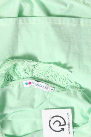 Дамски потник Even&Odd, Размер L, Цвят Зелен, 95% памук, 5% еластан, Цена 27,00лв.
