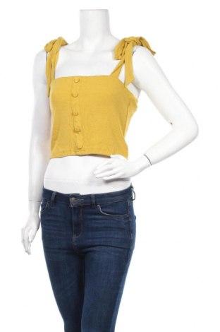 Γυναικείο αμάνικο μπλουζάκι Fashion Union, Μέγεθος M, Χρώμα Κίτρινο, 90% βισκόζη, 10% ελαστάνη, Τιμή 7,09€