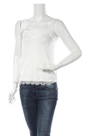 Γυναικείο αμάνικο μπλουζάκι Mbym, Μέγεθος S, Χρώμα Λευκό, 95% πολυεστέρας, 5% ελαστάνη, Τιμή 6,66€