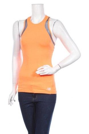 Γυναικείο αμάνικο μπλουζάκι New Balance, Μέγεθος XS, Χρώμα Πορτοκαλί, 83% πολυεστέρας, 17% ελαστάνη, Τιμή 11,13€