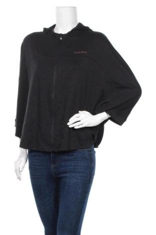 Дамски суичър Calvin Klein, Размер XS, Цвят Черен, 58% памук, 39% модал, 3% еластан, Цена 75,75лв.