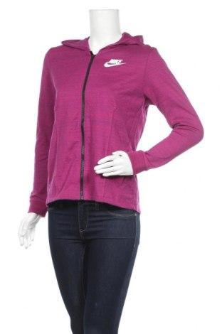 Дамски суичър Nike, Размер S, Цвят Лилав, 58% памук, 42% полиестер, Цена 52,92лв.