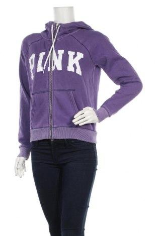 Дамски суичър Pink by Victoria's Secret, Размер S, Цвят Лилав, 78% памук, 22% полиестер, Цена 22,39лв.
