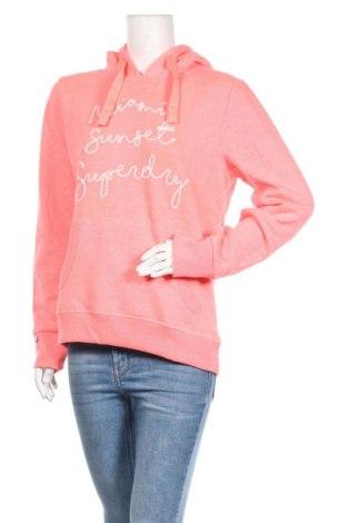 Дамски суичър Superdry, Размер L, Цвят Розов, 50% памук, 50% полиестер, Цена 66,75лв.
