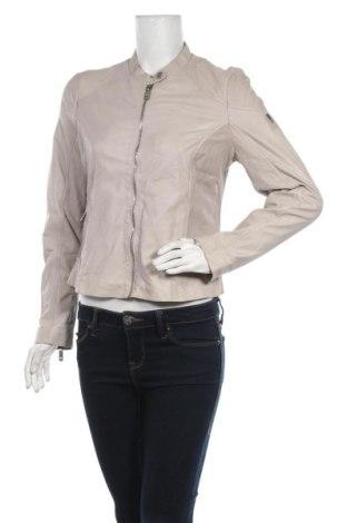 Γυναικείο δερμάτινο μπουφάν Mauritius, Μέγεθος XS, Χρώμα  Μπέζ, Γνήσιο δέρμα, Τιμή 78,42€