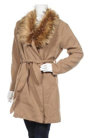 Γυναικείο παλτό Famous, Μέγεθος M, Χρώμα  Μπέζ, 84% πολυεστέρας, 16% βισκόζη, Τιμή 20,78€