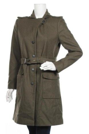 Дамско палто Pepe Jeans, Размер L, Цвят Зелен, 70% вълна, 30% полиестер, Цена 95,29лв.