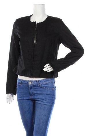 Дамско сако Camaieu, Размер XL, Цвят Черен, 55% лен, 45% памук, Цена 7,00лв.