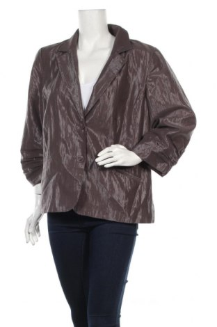 Дамско сако Chico's, Размер XL, Цвят Кафяв, 72% памук, 22% полиестер, Цена 18,00лв.