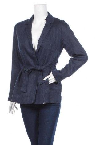 Γυναικείο σακάκι Cyrillus, Μέγεθος M, Χρώμα Μπλέ, Λινό, Τιμή 16,50€
