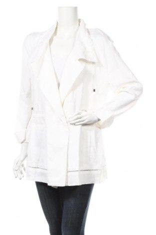 Γυναικείο σακάκι Escada Sport, Μέγεθος L, Χρώμα Λευκό, Λινό, Τιμή 98,66€