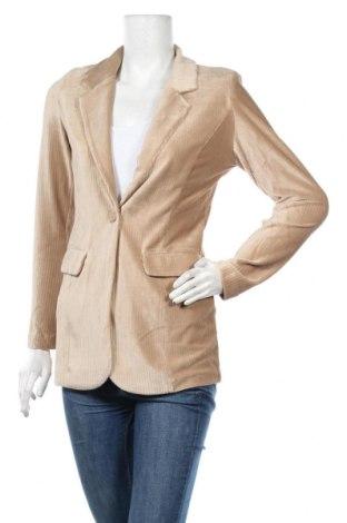 Дамско сако Free Quent, Размер XS, Цвят Бежов, 95% полиестер, 5% еластан, Цена 57,00лв.