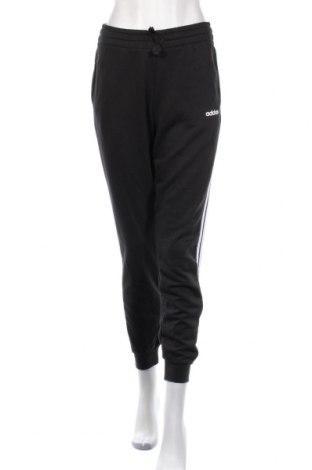Дамско спортно долнище Adidas, Размер M, Цвят Черен, 52% памук, 48% полиестер, Цена 66,75лв.