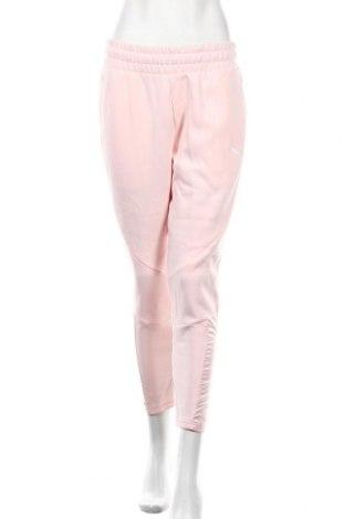Дамско спортно долнище PUMA, Размер M, Цвят Розов, 77% памук, 23% полиестер, Цена 66,75лв.