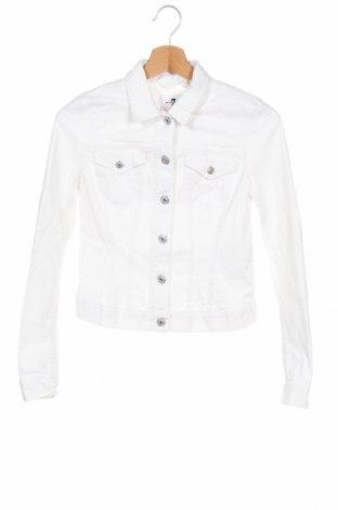 Γυναικείο μπουφάν 7 For All Mankind, Μέγεθος XS, Χρώμα Λευκό, 97% βαμβάκι, 3% ελαστάνη, Τιμή 32,01€