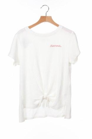 Παιδική μπλούζα Abercrombie Kids, Μέγεθος 9-10y/ 140-146 εκ., Χρώμα Λευκό, 65% πολυεστέρας, 35% βαμβάκι, Τιμή 16,88€