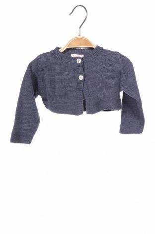 Pulover cu nasturi pentru copii Gocco, Mărime 6-9m/ 68-74 cm, Culoare Albastru, Acrilic, Preț 15,39 Lei