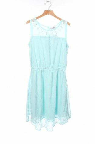 Παιδικό φόρεμα Happy Girls By Eisend, Μέγεθος 11-12y/ 152-158 εκ., Χρώμα Μπλέ, Πολυεστέρας, Τιμή 10,18€