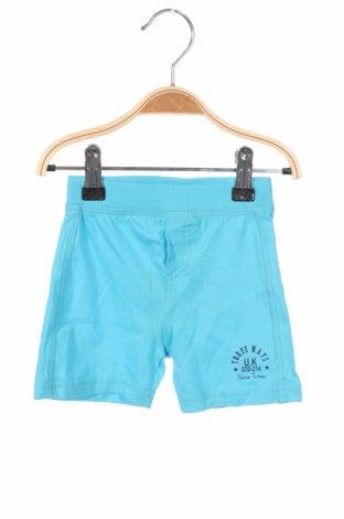 Детски къс панталон Grain De Ble, Размер 3-6m/ 62-68 см, Цвят Син, Памук, Цена 16,20лв.