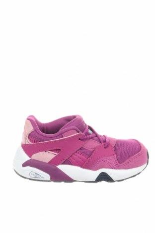 Детски обувки PUMA, Размер 22, Цвят Лилав, Текстил, естествен велур, Цена 46,87лв.