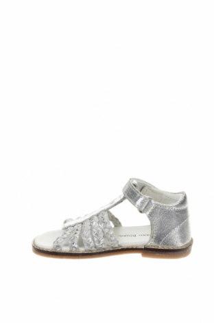 Детски сандали Saxo Blues, Размер 24, Цвят Сребрист, Естествена кожа, Цена 22,77лв.