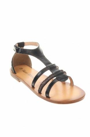 Детски сандали Saxo Blues, Размер 35, Цвят Черен, Естествена кожа, еко кожа, Цена 51,75лв.