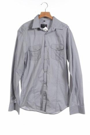 Мъжка риза Angelo Litrico, Размер XS, Цвят Сив, 65% полиестер, 35% памук, Цена 3,00лв.