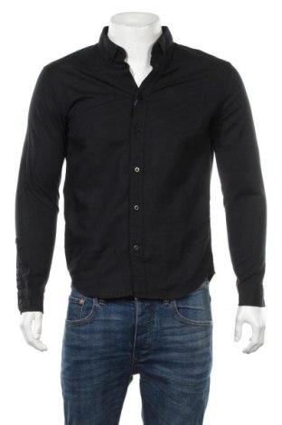 Мъжка риза Pier One, Размер S, Цвят Син, 50% памук, 50% лен, Цена 20,52лв.