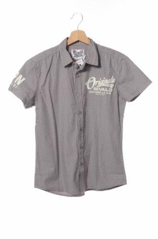Мъжка риза Rivaldi Jeans, Размер S, Цвят Сив, 100% памук, Цена 11,00лв.