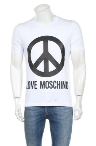 Ανδρικό t-shirt Love Moschino, Μέγεθος M, Χρώμα Λευκό, 95% βαμβάκι, 5% ελαστάνη, Τιμή 49,92€