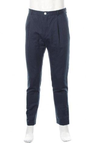 Мъжки панталон Tommy Hilfiger, Размер M, Цвят Син, 52% памук, 48% лен, Цена 47,25лв.