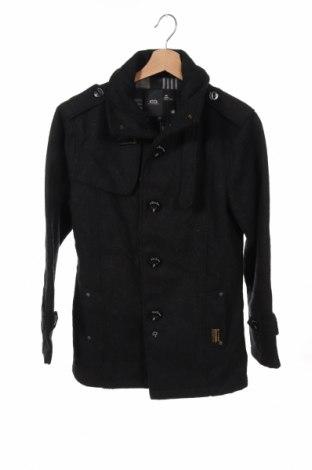 Мъжко палто G-Star Raw, Размер XS, Цвят Сив, 65% вълна, 35% памук, Цена 41,33лв.