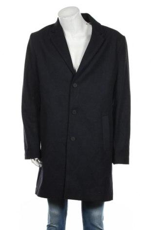 Ανδρικά παλτό Kiomi, Μέγεθος XL, Χρώμα Μπλέ, 73% πολυεστέρας, 15% μαλλί, 4% πολυακρυλικό, 3% βαμβάκι, 3% βισκόζη, 2% πολυαμίδη, Τιμή 22,37€