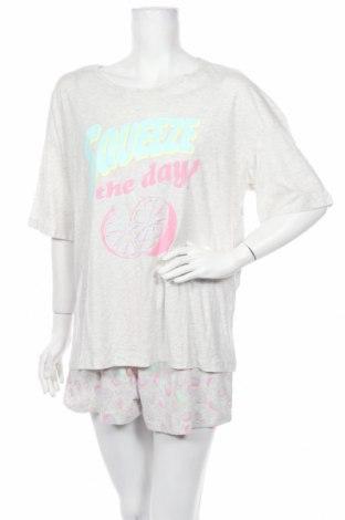 Пижама H&M, Размер M, Цвят Сив, 99% памук, 1% вискоза, Цена 25,20лв.