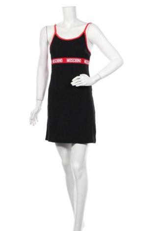 Пижама Moschino underwear, Размер M, Цвят Черен, Памук, Цена 118,20лв.