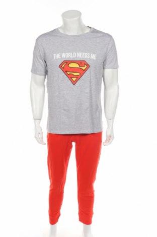 Пижама Undiz, Размер M, Цвят Червен, Памук, вискоза, Цена 35,91лв.
