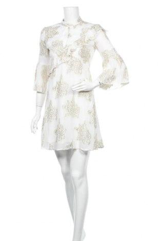 Рокля Miss Selfridge, Размер XS, Цвят Бял, 87% вискоза, 13% метални нишки, Цена 31,27лв.