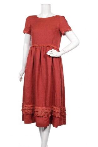 Φόρεμα Weekend Max Mara, Μέγεθος S, Χρώμα Κόκκινο, Λινό, Τιμή 115,50€