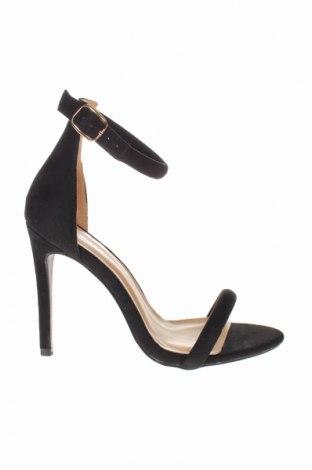 Σανδάλια Glamorous, Μέγεθος 38, Χρώμα Μαύρο, Κλωστοϋφαντουργικά προϊόντα, Τιμή 23,12€