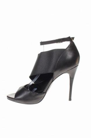 Σανδάλια Guess, Μέγεθος 40, Χρώμα Μαύρο, Γνήσιο δέρμα, κλωστοϋφαντουργικά προϊόντα, Τιμή 62,56€