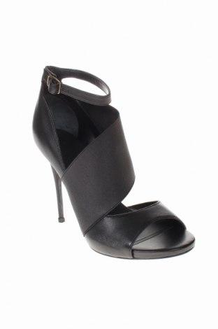Σανδάλια Guess, Μέγεθος 38, Χρώμα Μαύρο, Γνήσιο δέρμα, κλωστοϋφαντουργικά προϊόντα, Τιμή 62,56€