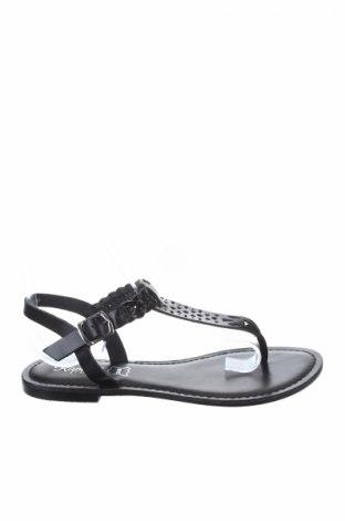 Σανδάλια Kaporal, Μέγεθος 37, Χρώμα Μαύρο, Γνήσιο δέρμα, Τιμή 26,47€