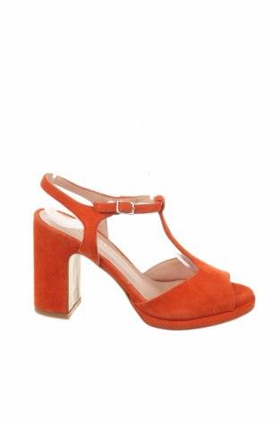 Σανδάλια Minelli, Μέγεθος 36, Χρώμα Πορτοκαλί, Φυσικό σουέτ, Τιμή 31,69€