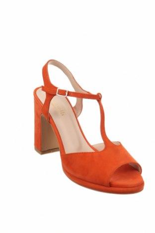 Σανδάλια Minelli, Μέγεθος 40, Χρώμα Πορτοκαλί, Φυσικό σουέτ, Τιμή 31,69€