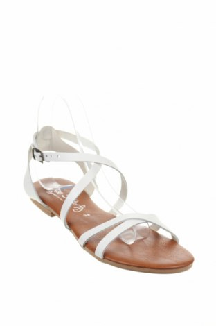 Σανδάλια Miss Butterfly, Μέγεθος 38, Χρώμα Λευκό, Δερματίνη, Τιμή 19,77€