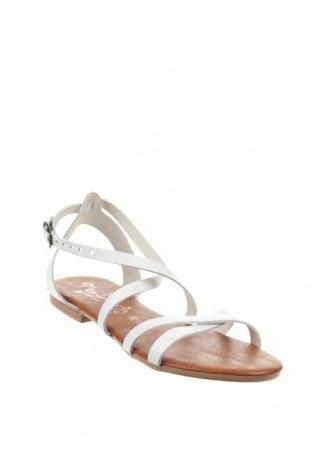 Σανδάλια Miss Butterfly, Μέγεθος 37, Χρώμα Λευκό, Δερματίνη, Τιμή 19,16€
